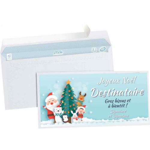 Enveloppe pour cheque cadeau, noel billet, ticket